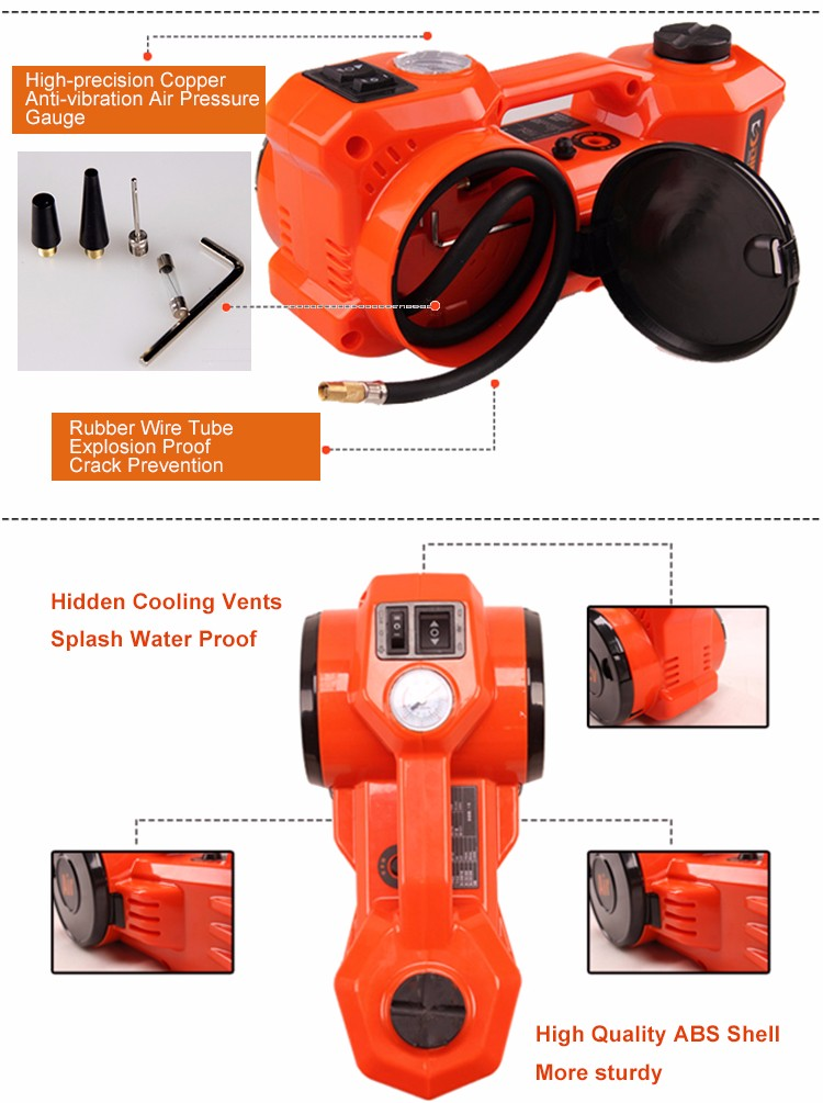 Professional Self-developed cheap price 12v impact wrench & electric jack set india style