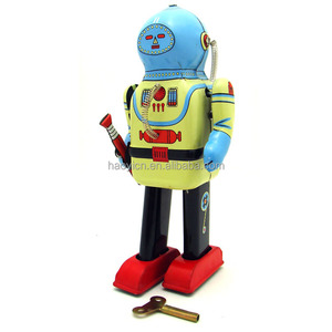 Wholesale Brand New Tom Inter Planet Space Captain Tin Robot Wind Up Toy Gift