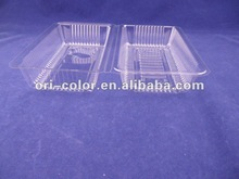 Disposable Clear PET tray for Biscuit