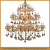 empire golden wedding crystal candle 3 tiers ceiling Luxury crystal chandeliers