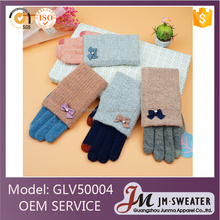 Fashion Mittens Design Acrylic Cheap Winter Knit Women Gloves Factory