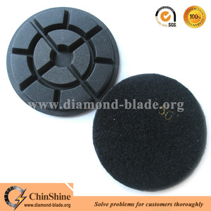 80mm 100mm resin bonded diamond wet floor polishing pads for concrete renew