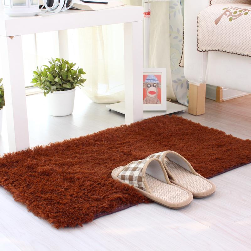 50*100/120/160CM Soft Brand Rug For Bedroom Bedside Silky