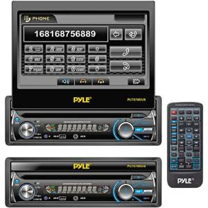 """Pyle - 7'' Single Din In-Dash Detachable Motorized Touch Screen Tft/Lcd Monitor With Dvd/Cd/Mp3/Mp4/Usb/Sd/Am/Fm Bluetooth Receiver """"Product Category: Car Head Units/Dvd Head Units"""""""