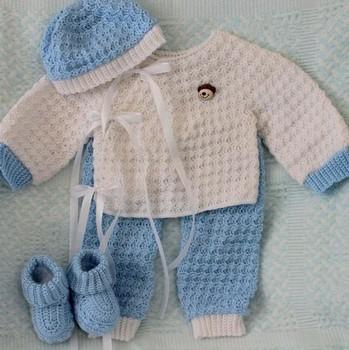Beanie Y Botines Estilo Hecho A Mano Kids Crochet Suéter - Buy ...