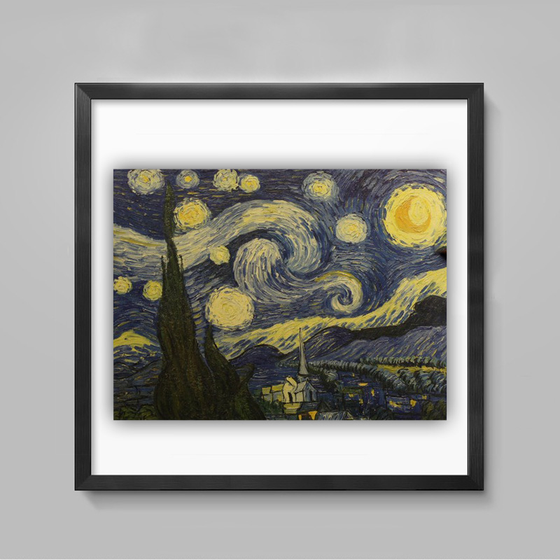 Starry Night c1889 Kraft Paper Paint By Vincent Van Gogh Living Room Art Crafts Cafe Pub Home Decor #1-29