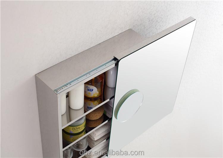 Make Up Sliding Door Bathroom Mirror Cabinet With