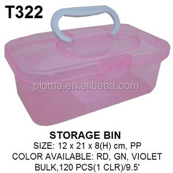 Kids Toy Storage Box Transparent Plastic Storage Bins With Lid