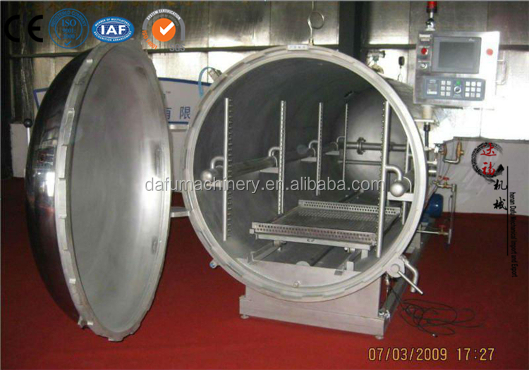 Factory direct Industrial Steam Stainless retort food processing autoclave for sale