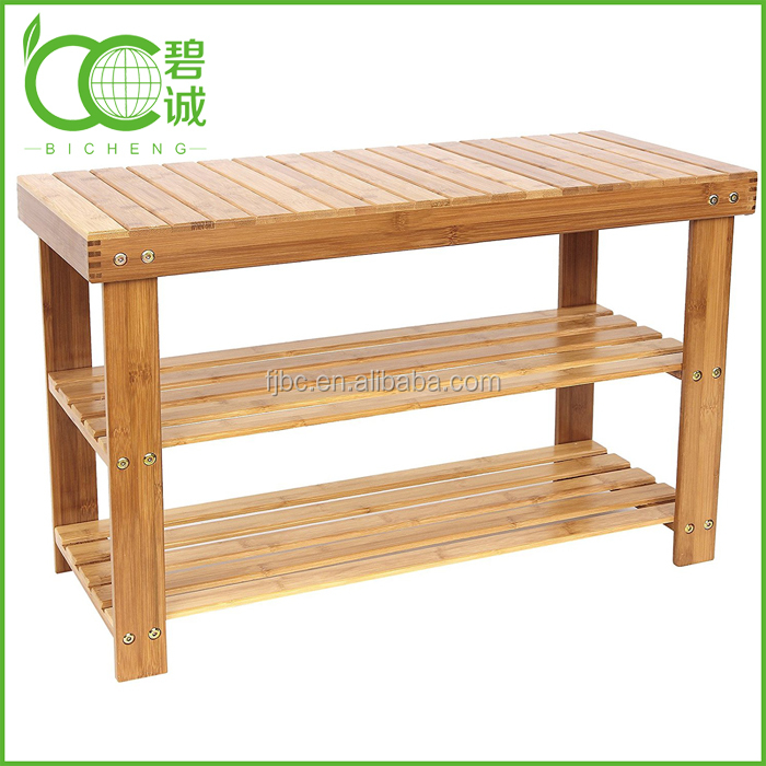 Wholesales Fashion Bamboo/Wooden Shoes-Changing Bench at Door