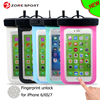 For iPhone 7 case new function for Fingerprint unlock of Universal mobile phone waterproof bag with IPX8 underwater 25M