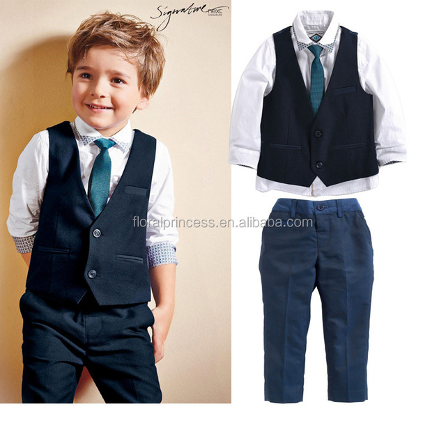 European New Spring Baby Boys Clothes Gentleman Suit Toddler Clothing Set Infant Wedding
