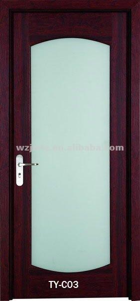 pvc porte affleurante avec givré verre comme porte de salle de ... - Porte De Cuisine En Verre