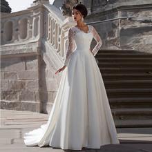 Vintage Lace Long Sleeve Wedding Dresses Ball Gowns Stain Back Zipper Bridal Gown Dress Vestidos De Novia 2016 Robe De Mariage