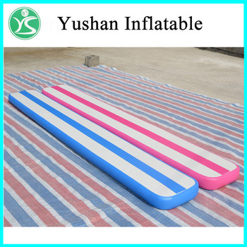 cheap gym mats inflatable tumble track air floor gymnastics