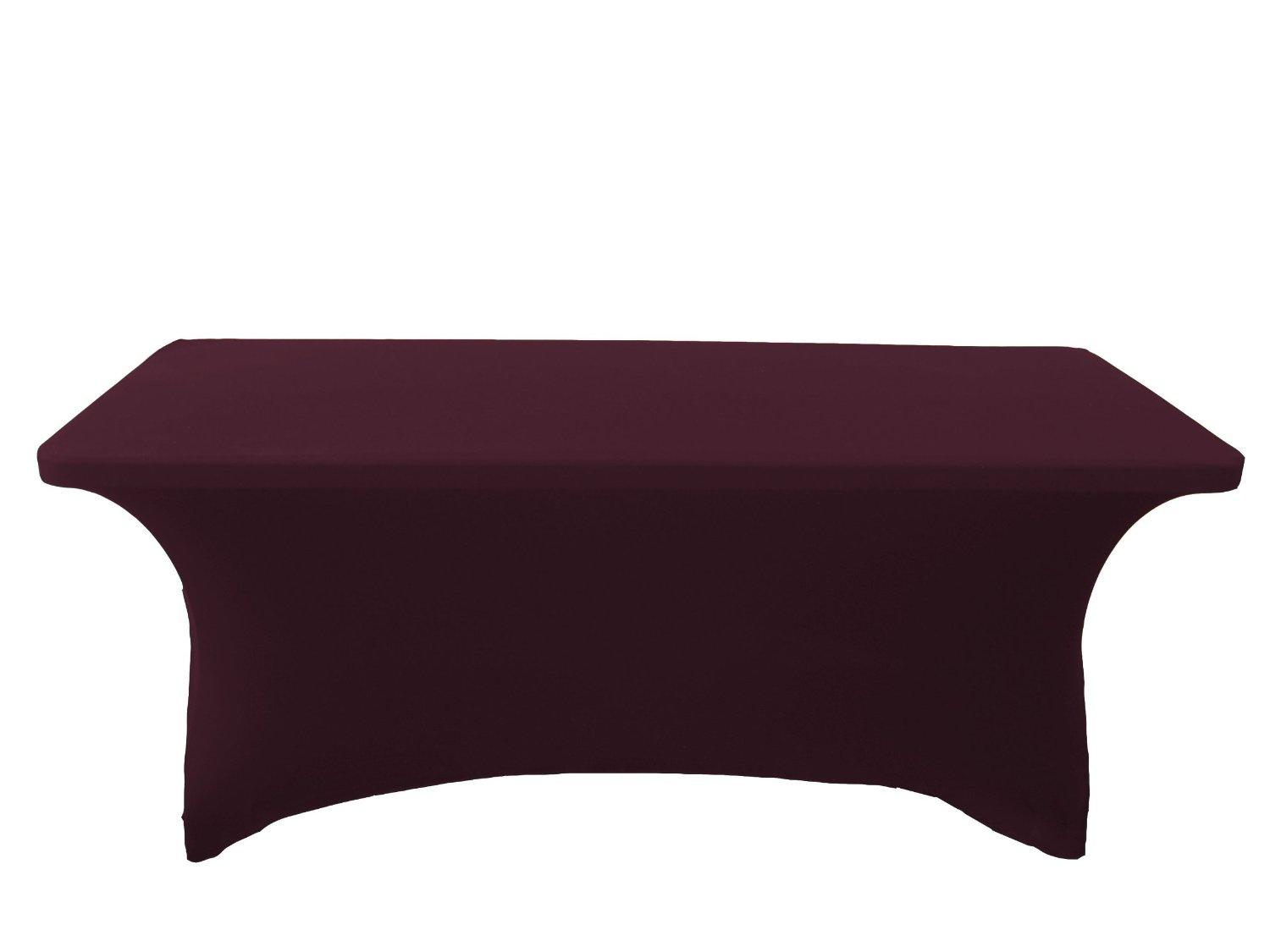 LA Linen Spandex Table Cloth for a 8-Feet Rectangular Table, 96 by 30 by 30-Inch, Eggplant