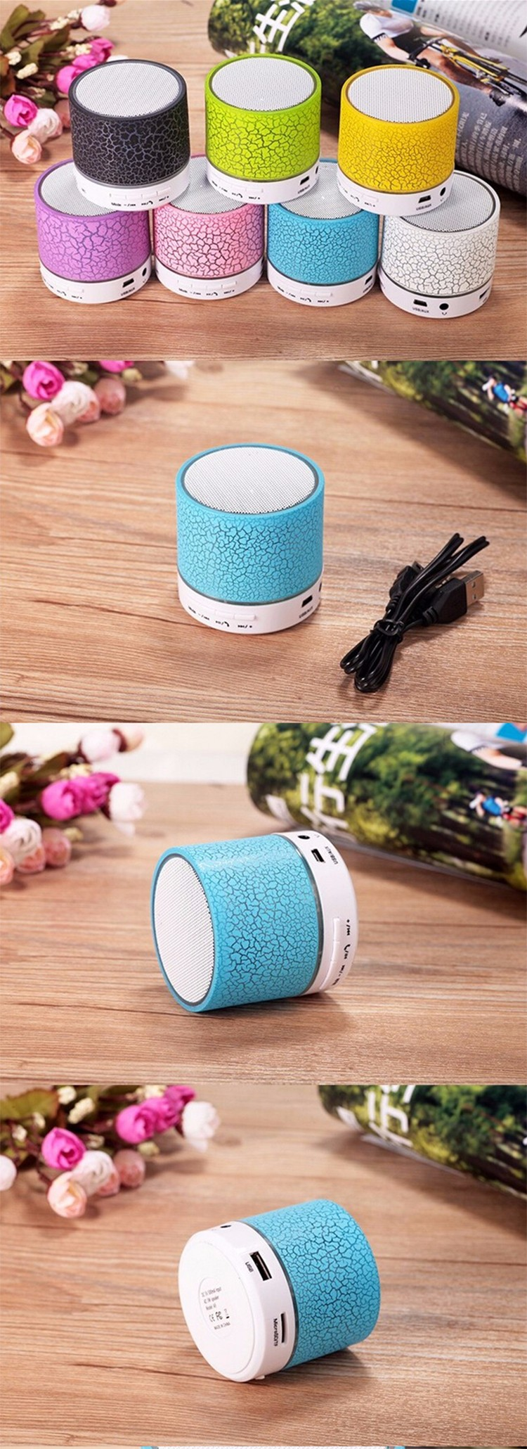Powered outdoor wireless mini speaker
