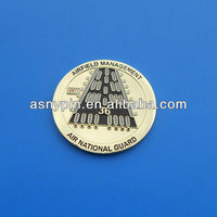 airfield management souvenir gold coin,air national guard soft enamel coins with high quality