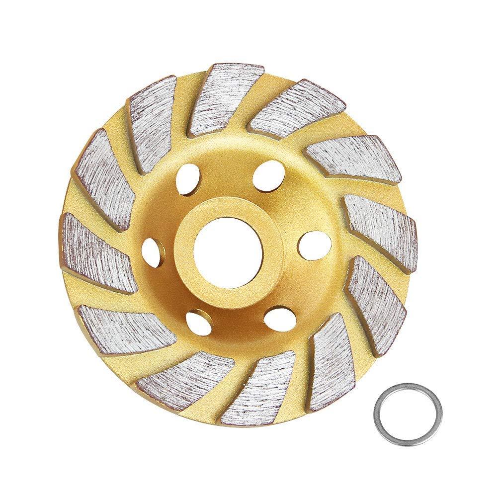 3 Piece 4 1//2 Inch 115mm Diamond Grinding Cup Wheel concrete travertine stone