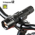 Bicycle Light 5 Mode XM L2 LED Bike Light Front Torch Waterproof Torch Holder 3800 Lumens
