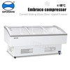 560L refrigerator freezer with curved glass sliding door