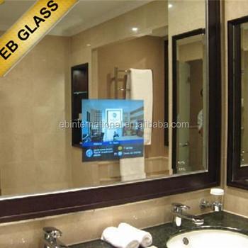 5mm Magic Mirror Gl Hotel Shower Room Hidden Flat Screen Television Tv Behind