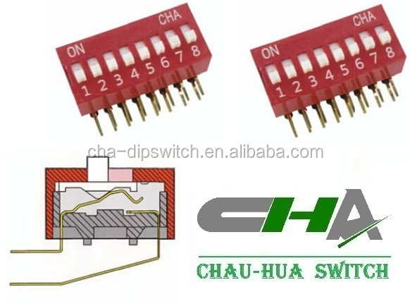China supplier pitch 2.54mm 1.27mm DA series dip switch