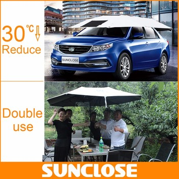 SUNCLOSE Factory Beach Chair Umbrella Parasol Vehicle Awnings For Sale Manual Car Cover Sunshade Auto Seat