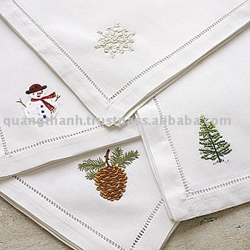 Christmas Embroidery Napkin Buy Embroidery Napkinhand Embroidery