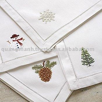 Christmas Embroidery Napkin Buy Embroidery Napkin Hand