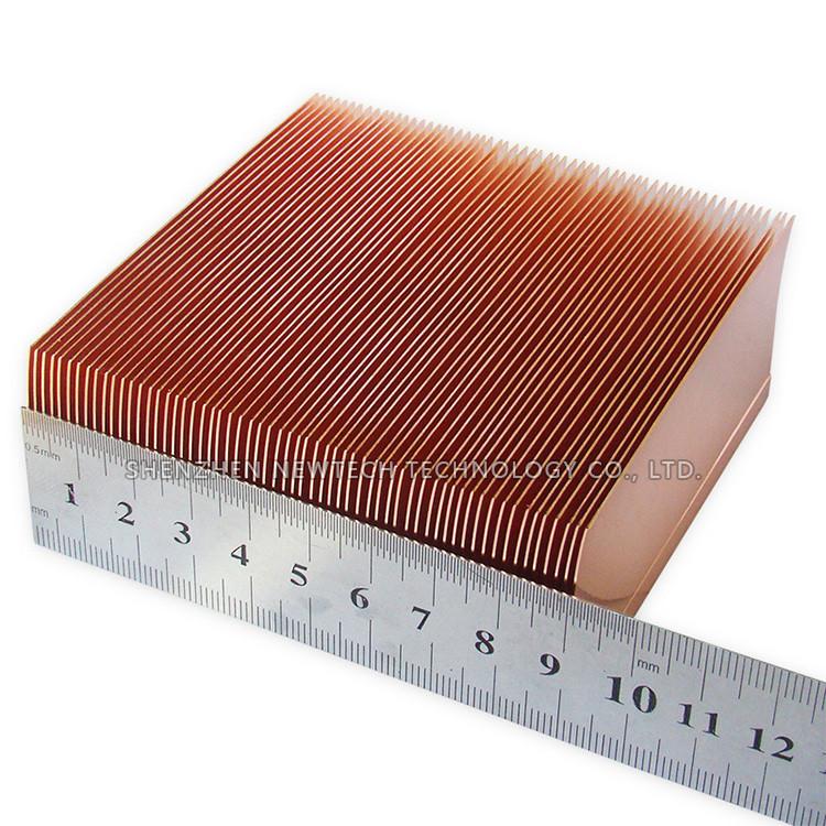 Customized 15cm Aluminum/copper Cnc Process Heat Sink