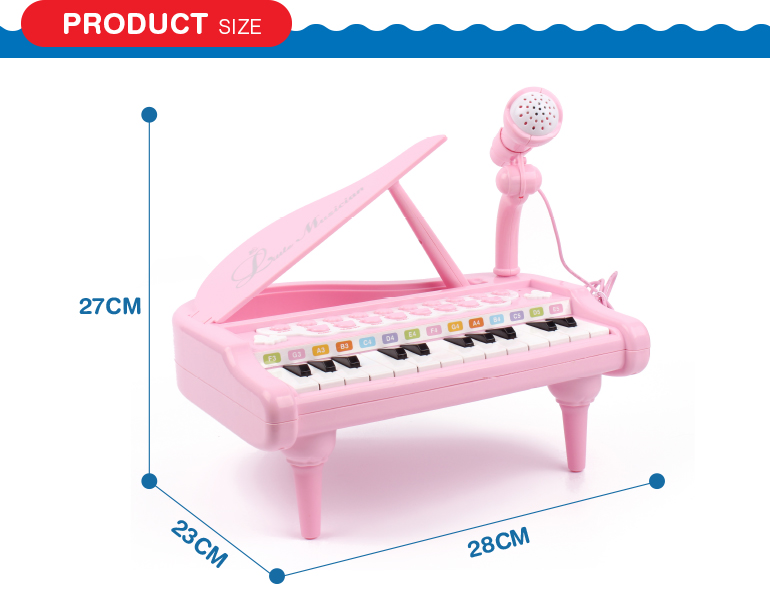 Kid Electronic Keyboard Piano Plastic Toy Musical Instrument