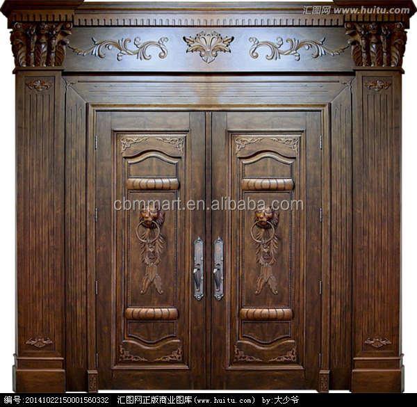 Antique Villa Main Entrance Wooden Doors Double Solid Wood Door ...