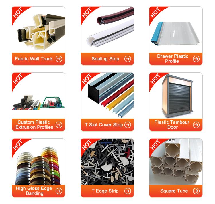 China Manufacturers Flexible T U Shape Extrusion PVC Rubber Door Edge Banding For Furniture
