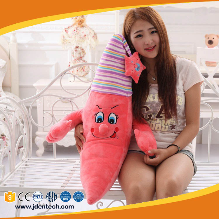 Cute cartoon creative gift the star nightcap moon doll plush toy for children