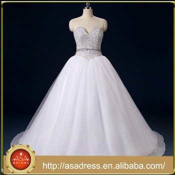 Rasa 03 2017 Real Sample Luxury Sweetheart Bling Sequins Beading Puffy Ball Gown Princess Wedding
