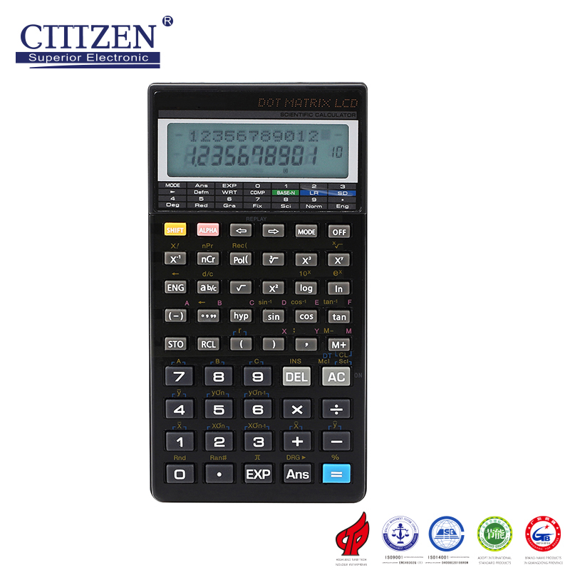 Customized Logo fx-4500PA 2 line dispaly 10 Digit Plastic Key scientific Calculator with good looking