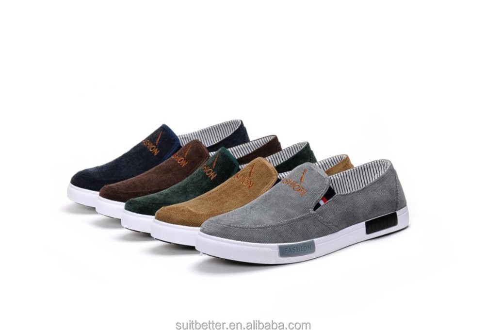 2017 new canvas shoes men's casual shoes Men's slip-on canvas injection shoes