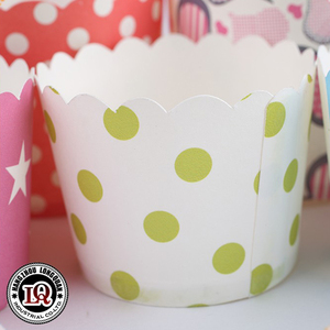 Alibaba Disposable Custom Printed Mini Paper Cupcake Baking Cups