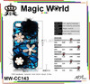 luxury crystal stones &big flowers mobile phone case for samsung galaxy s4