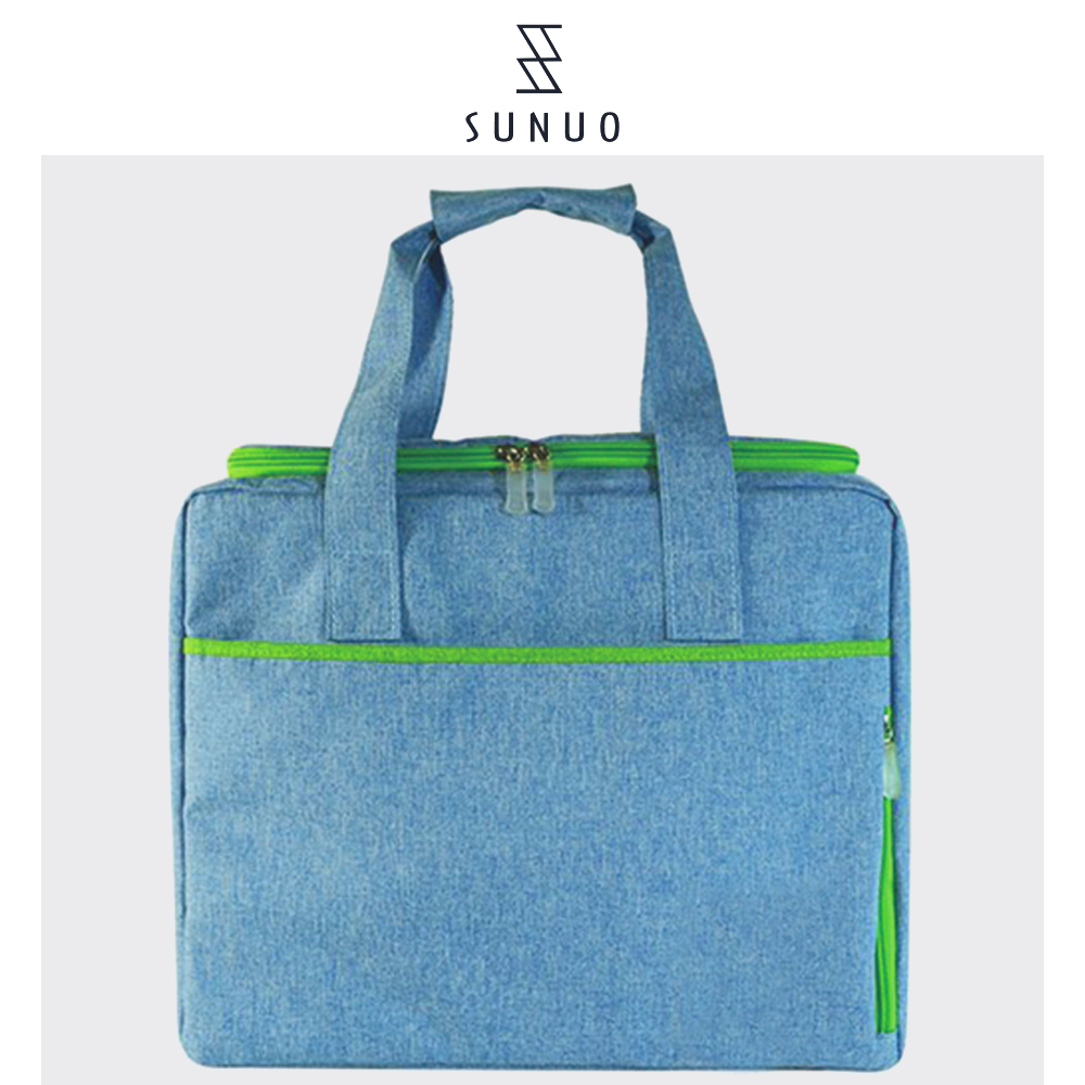 Denim Blue Non Woven Fashion Thermal Bag For Adults,Hot Selling Cooler Bags