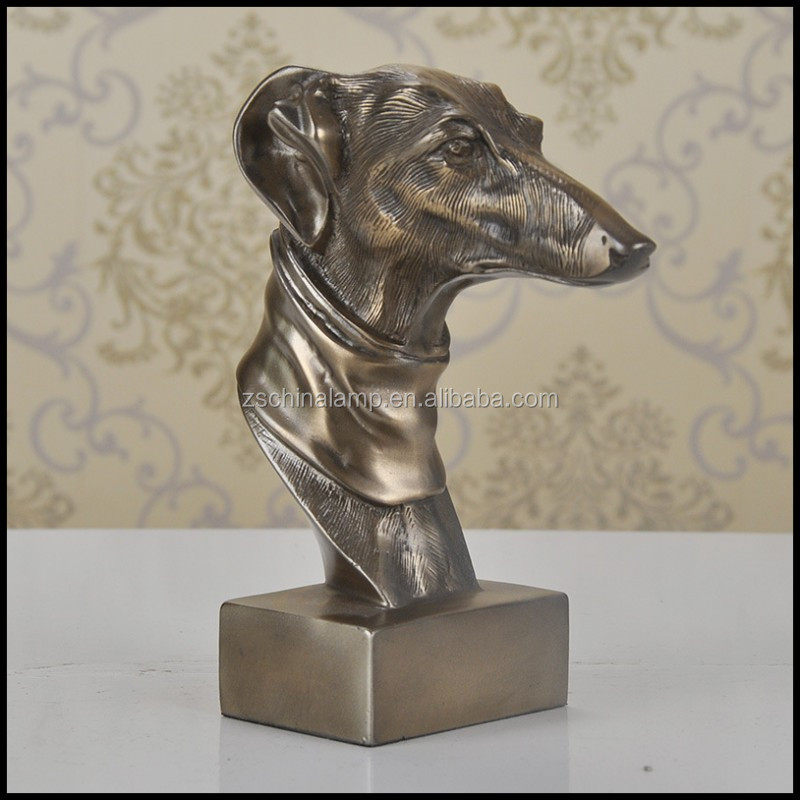 Best Resin Statue Dog Sculpture With Brown Finish For Luxury Furniture