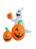 120cm/4ft inflatable white ghost with three pumpkin for outdoor Halloween decoration