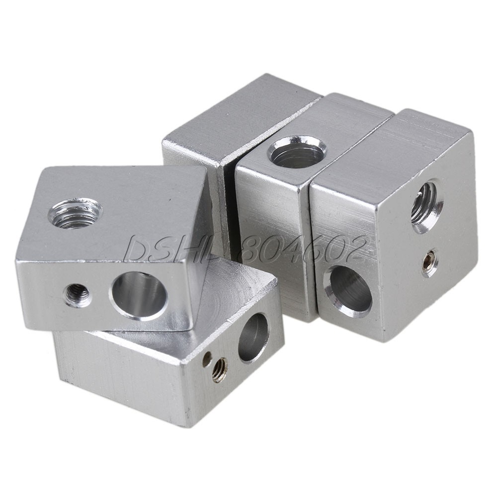 Aluminium Heating Block 20*20*10mm M6 M3 Thread For Makerbot MK7//MK8 3D Printer