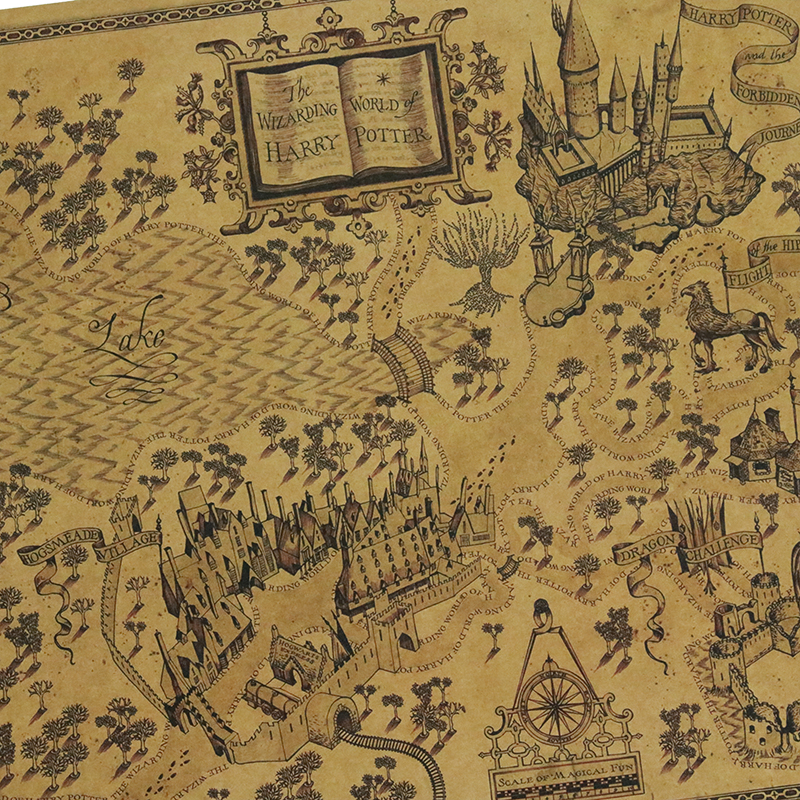 Home & Garden Home Décor Map of The Wizarding World of Harry ...