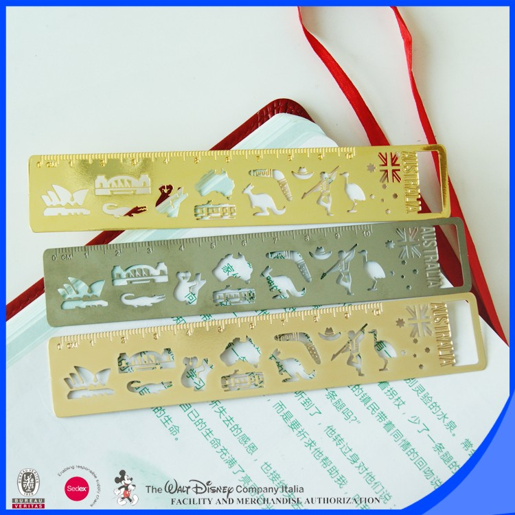 personalized size stainless steel metal ruler