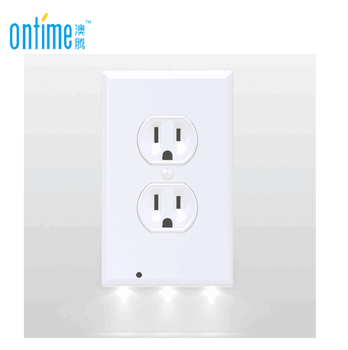 Wholesale free shipping(brown box) SnapPower White LED Night Light Guidelight Outlet Coverplate wall plate Snap power