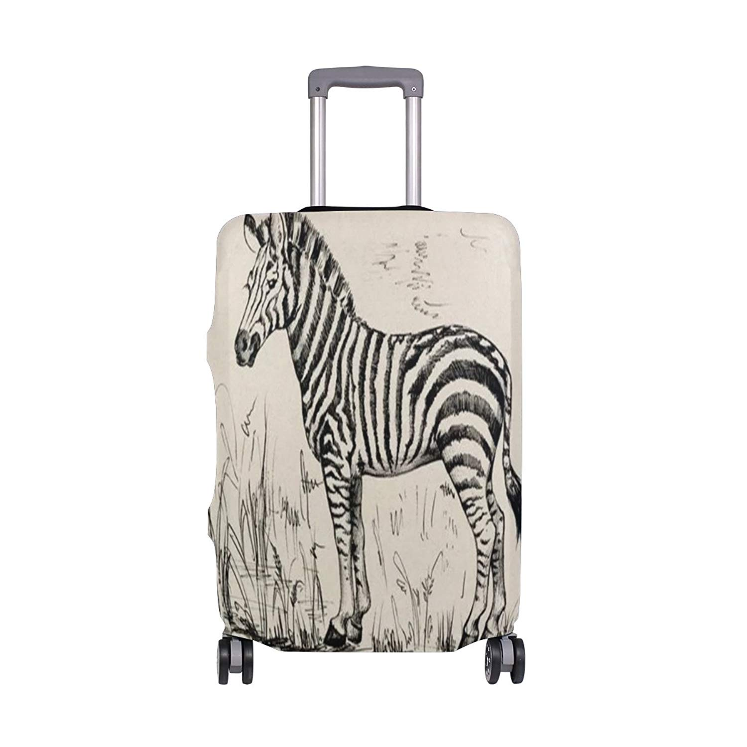 Luggage Protective Covers with Zebra Stripes Washable Travel Luggage Cover 18-32 Inch