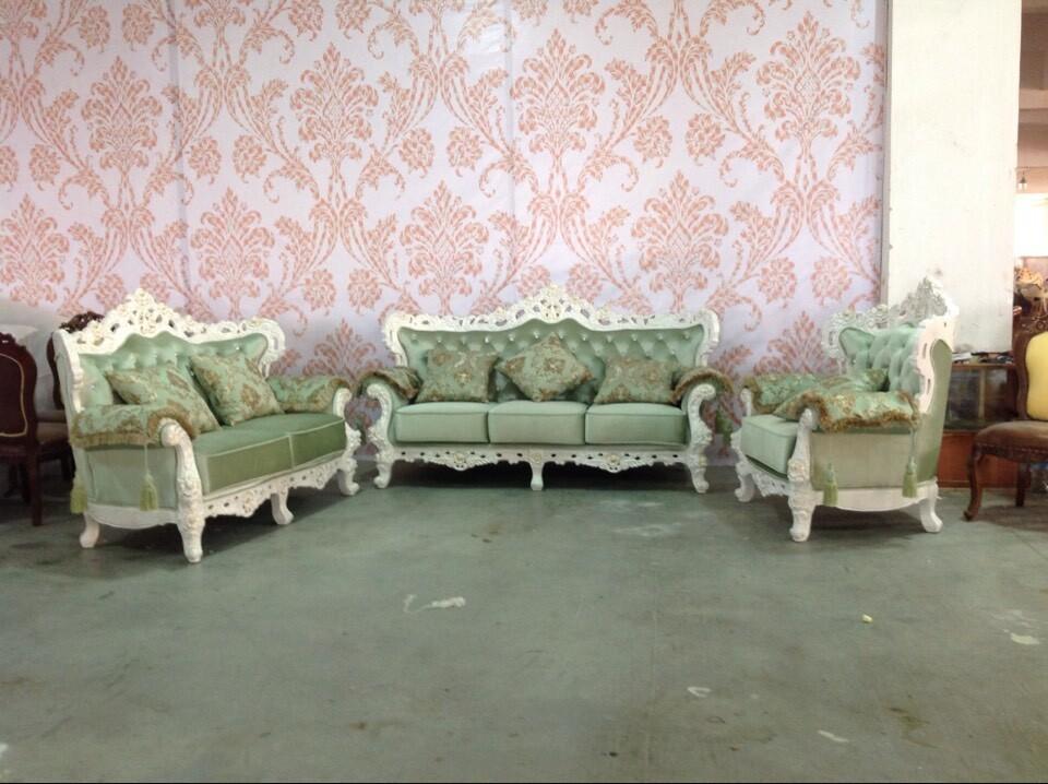 French Baroque Rococo Sofa Set Living Room Royal Furniture Sofa