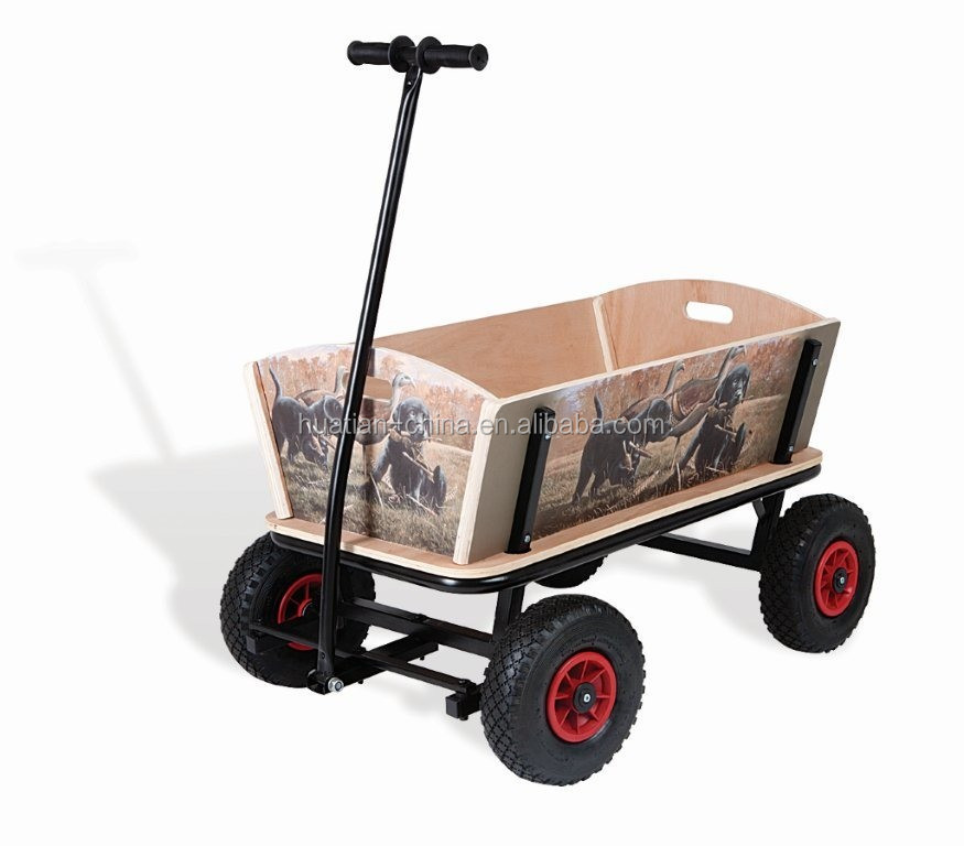 Deluxe wooden wagon for kids TC4203B